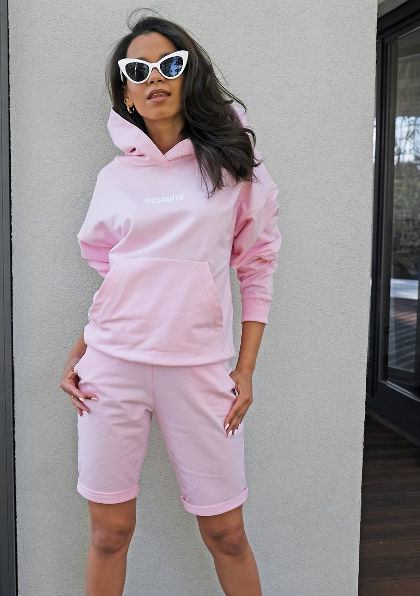 Bawełniana bluza kangurka pink ILM