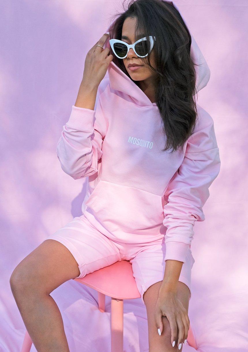 Bawełniane spodenki o średniej długości  pink ILM