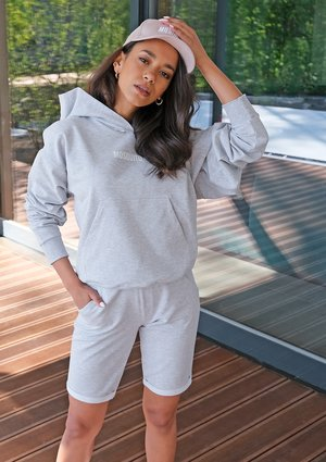Grey cotton hoodie ILM
