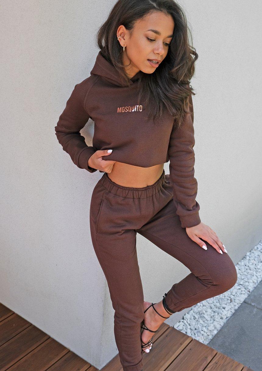 Spodnie dresowe w kolorze czekoladowym ILM