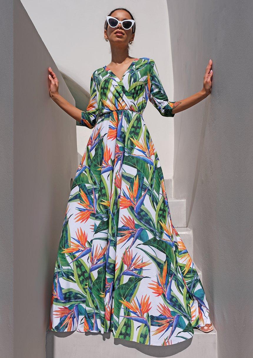 Długa sukienka z elany
