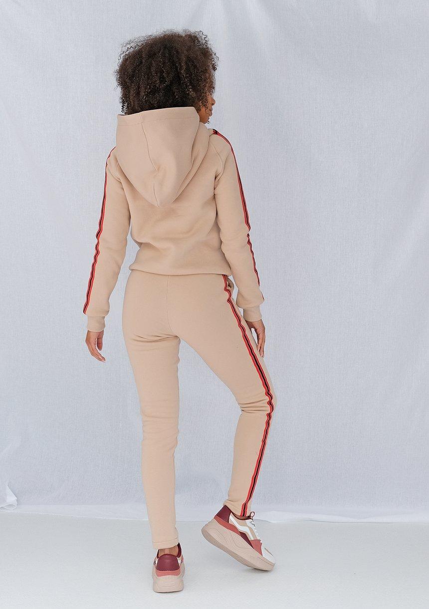 Spodnie z lampasem red Beżowe ILM