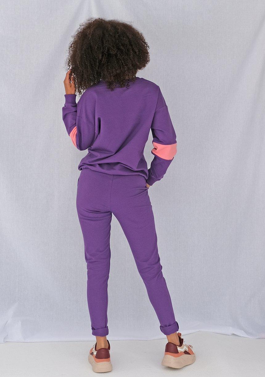 Klasyczne spodnie dresowe Fioletowe ILM