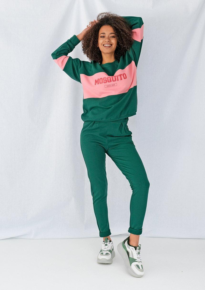 Klasyczne spodnie dresowe Zielone ILM
