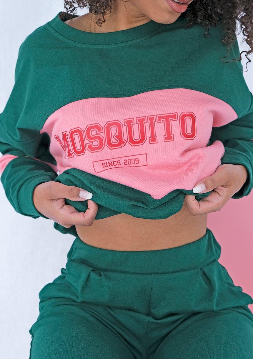 Bluza ze wstawką red Zielona ILM