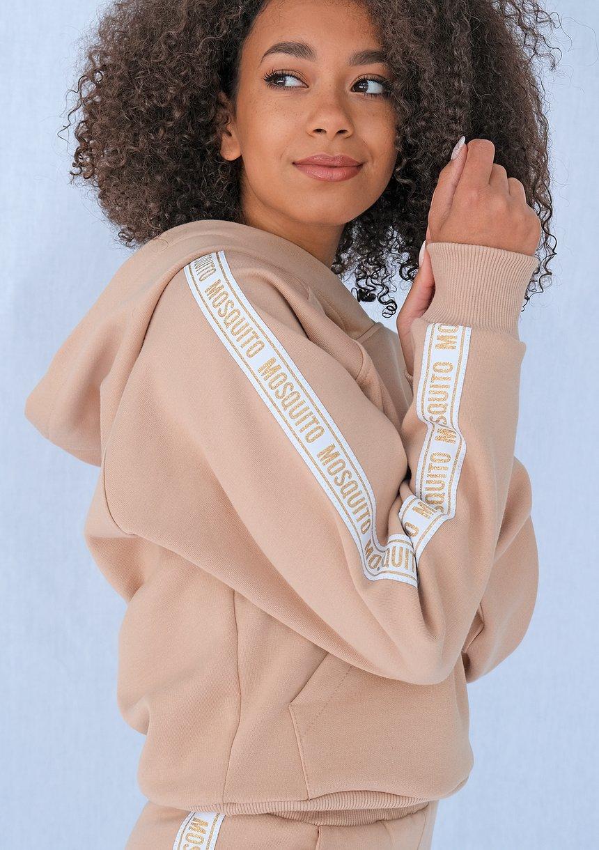 Bluza z lampasem Gold logo beżowa ILM