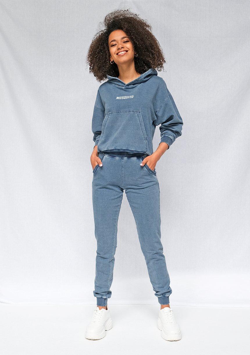 Bluza z kapturem z bawełny Denim ILM