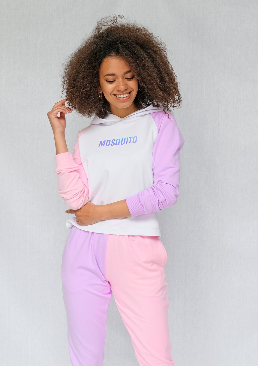 Bluza z łączonych kolorów Różowa ILM