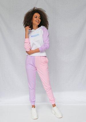 Spodnie z łączonych kolorów Różowe ILM