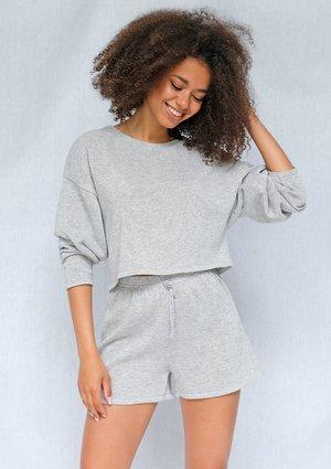 Sweter bawełniany o luźnym kroju Szary ILM