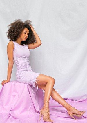 Bawełniana sukienka o regulowanej długości Lila