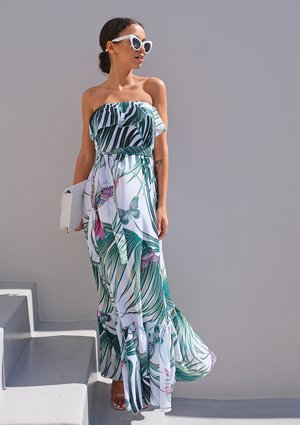 Sukienka maxi liście palmy