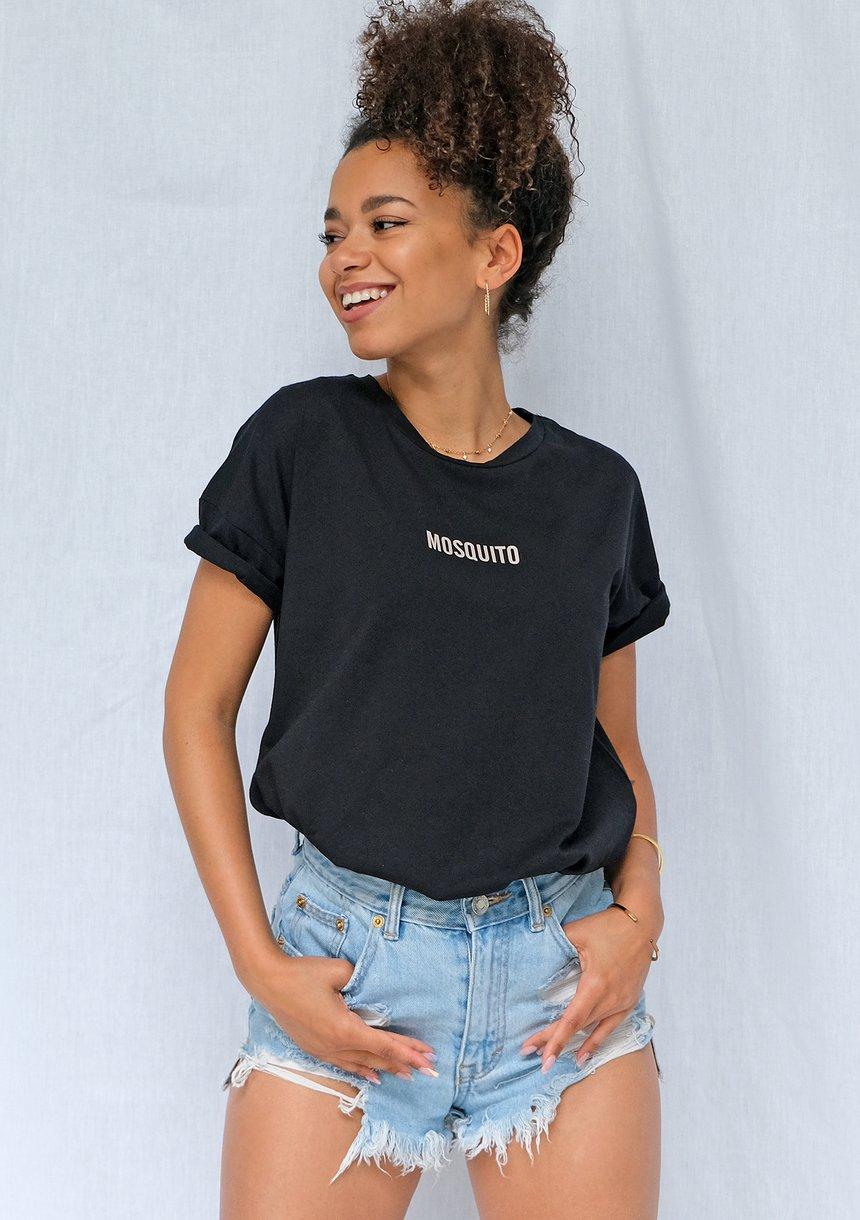 T-shirt basic z logo Czarny ILM