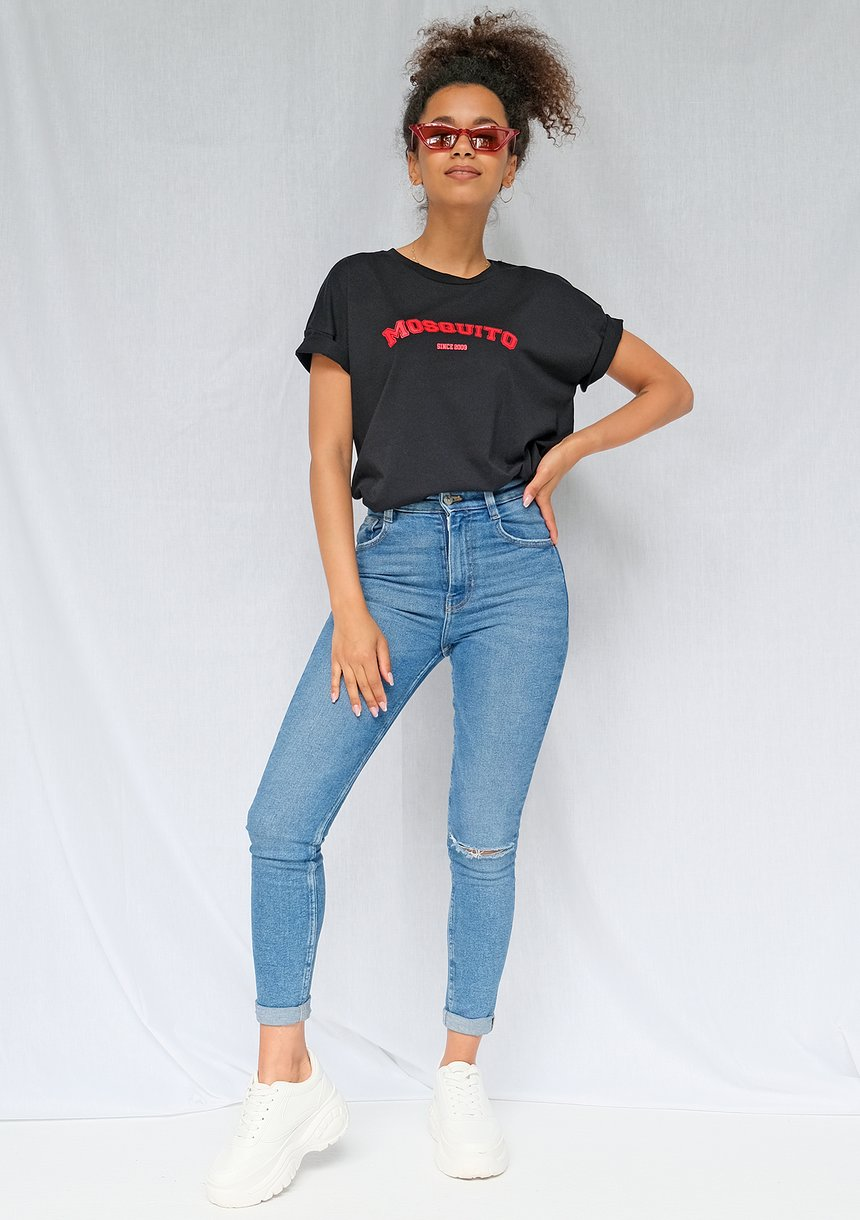 T-shirt basic red Mosquito czarny ILM
