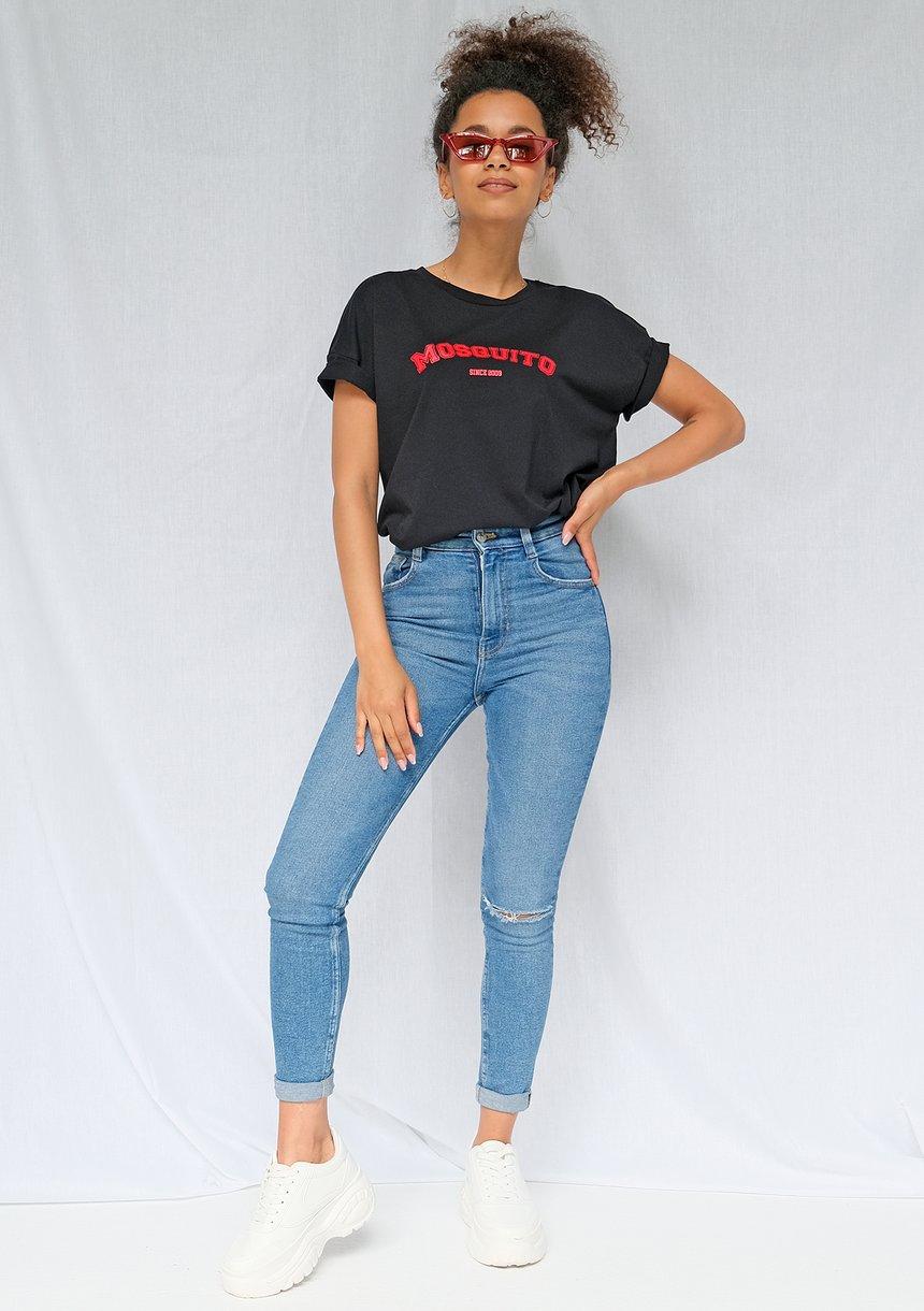 """T-shirt basic """"Red Mosquito"""" Czarny ILM"""
