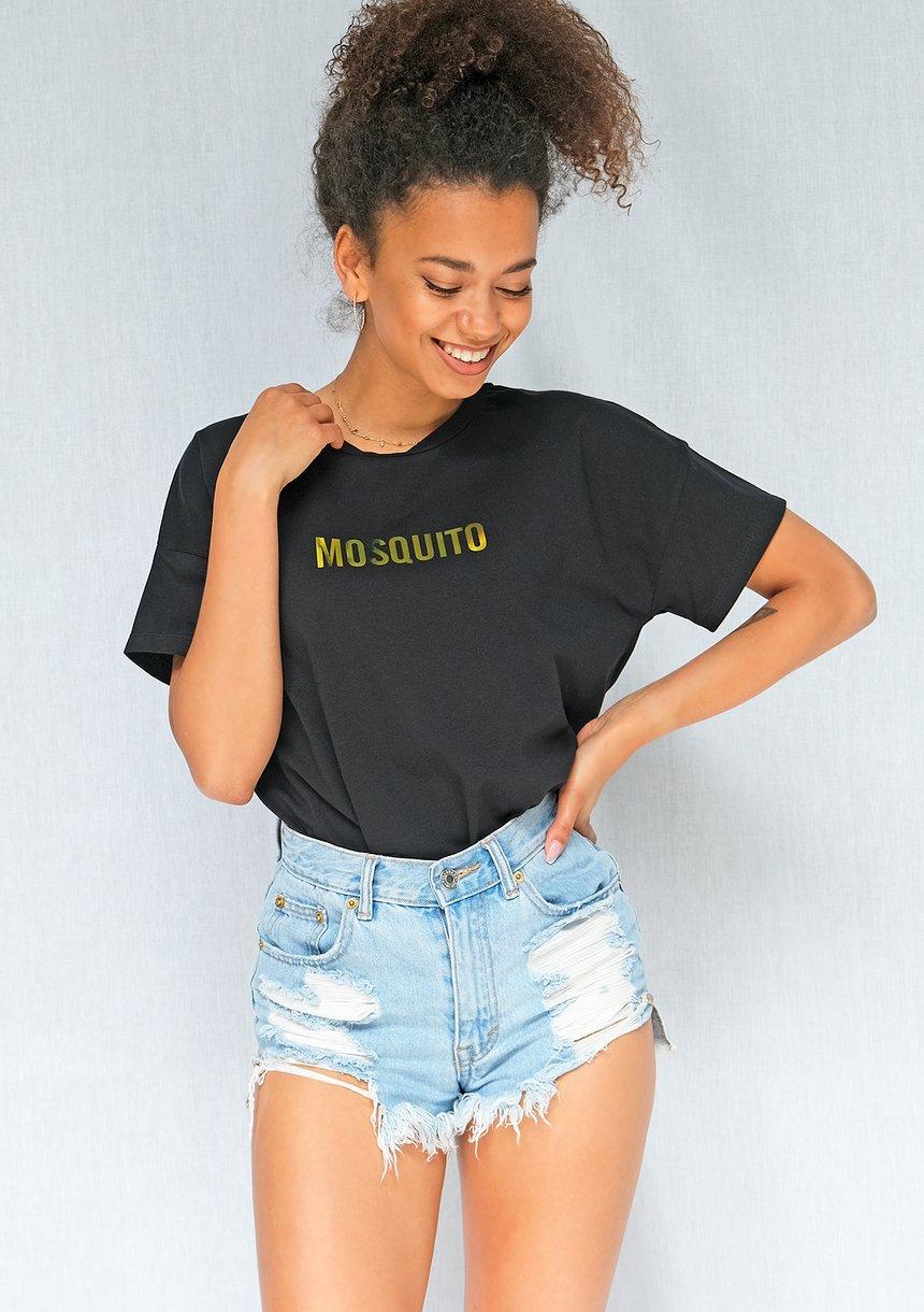 "T-shirt "" Hologram logo"" Czarny ILM"