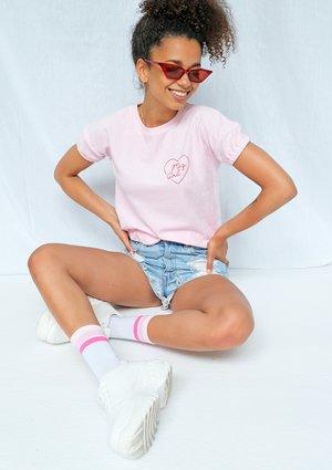 Koszulka z dzianiny frotte różowa ILM