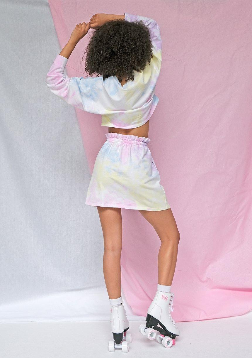 Bluza cropped ręcznie barwiona metodą diy pastel ILM