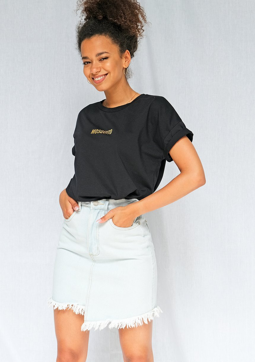 T-shirt basic Gold logo Czarny ILM