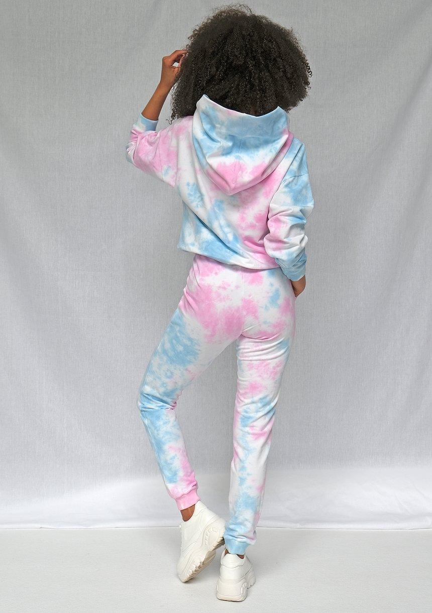 Bluza kangurka ręcznie barwiona metodą diy pastel
