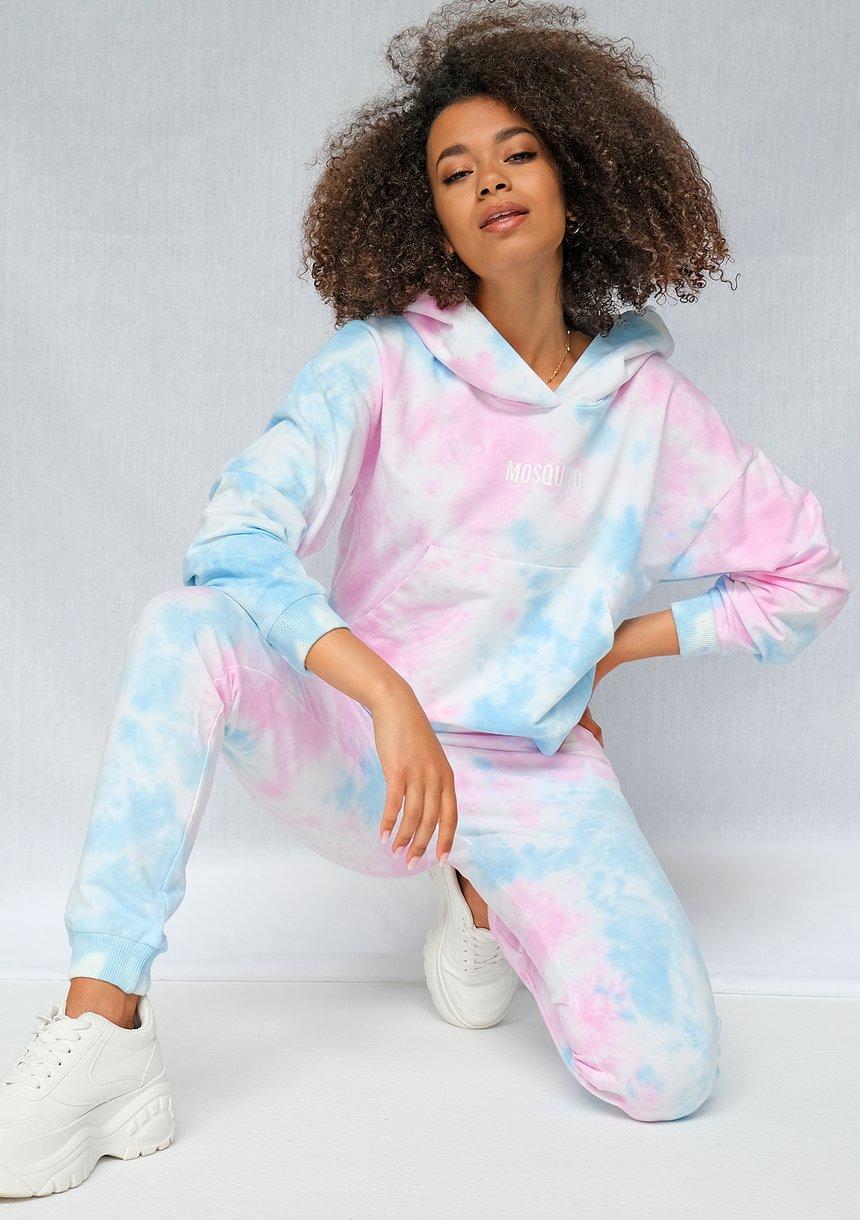 Spodnie dresowe ręcznie barwione metodą Diy pastel ILM