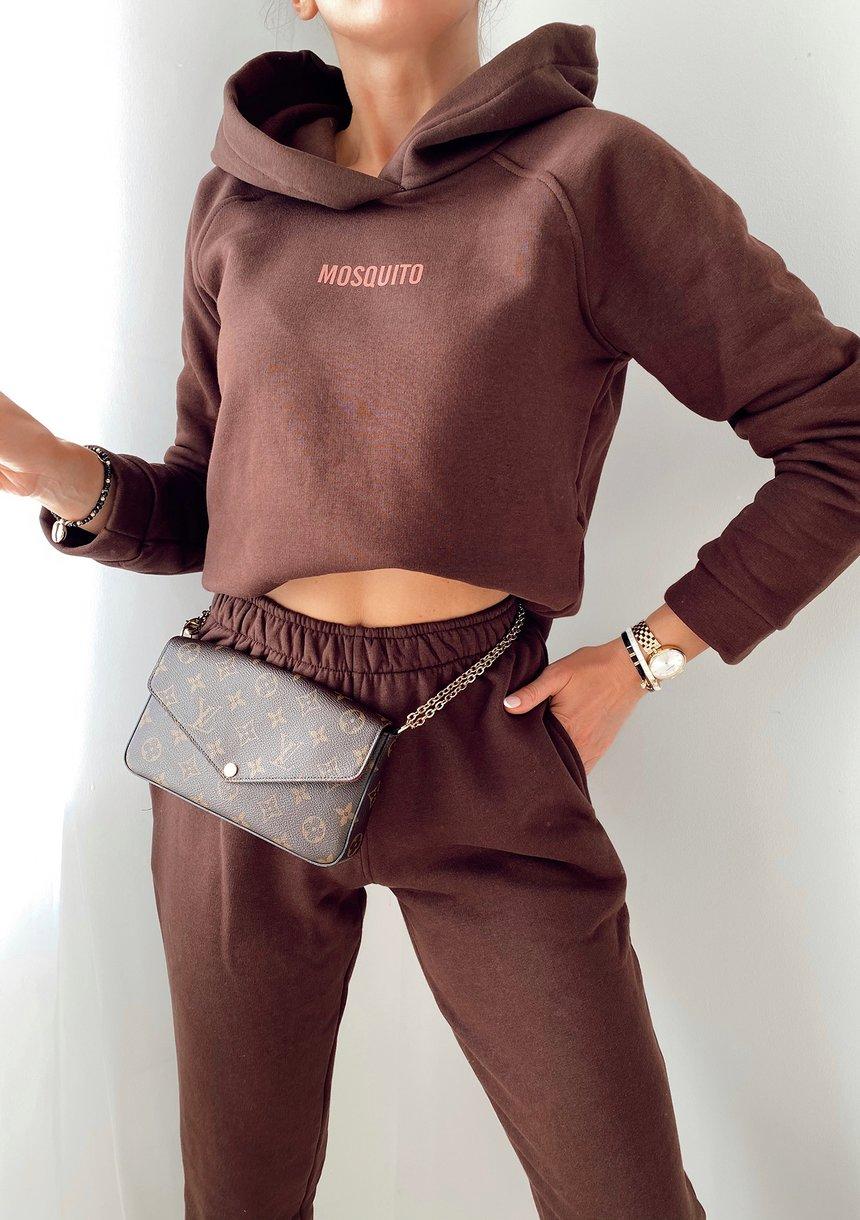 Bluza z kapturem w kolorze czekoladowym ILM