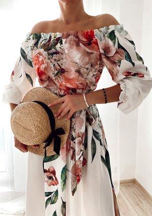 Sukienkia maxi z kwiatowym borderem