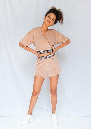 Beige velvet shorts ILM