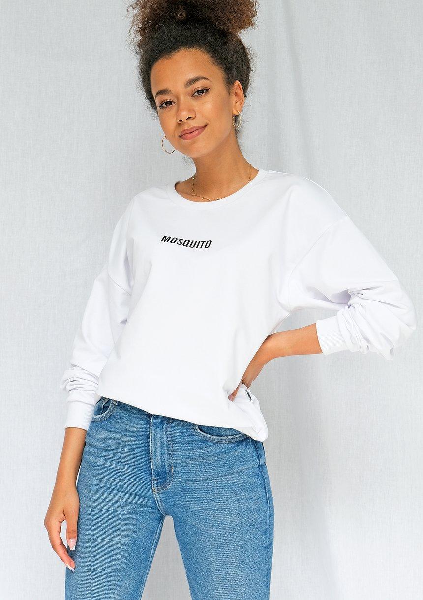 Bluza basic z logo biała ILM