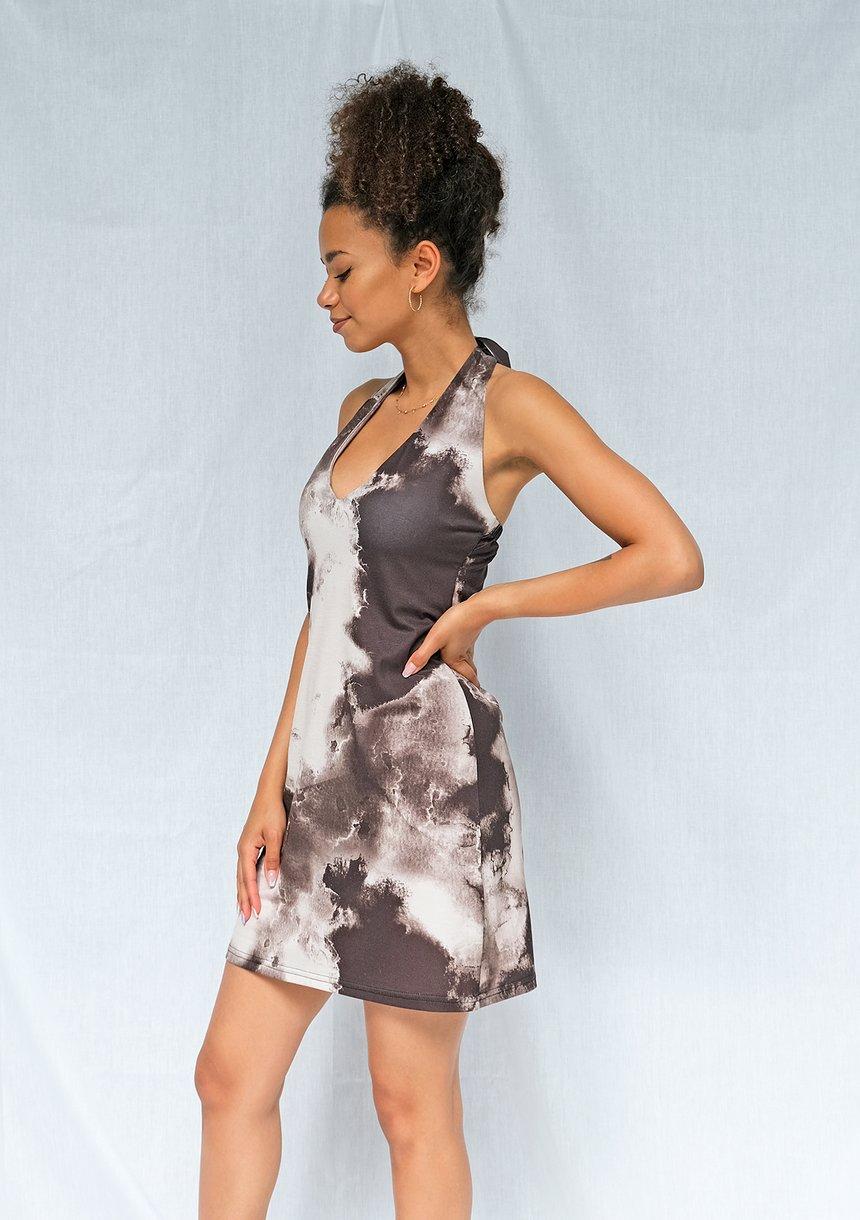 Letnia sukienka tie dye black ILM