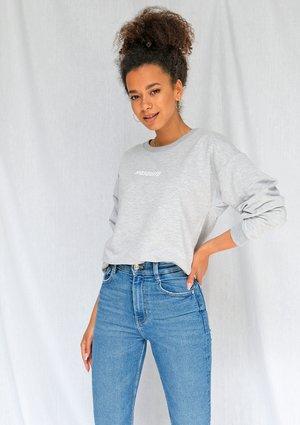 Bluza basic z logo szara ILM