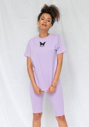Koszulka butterfly logo lila