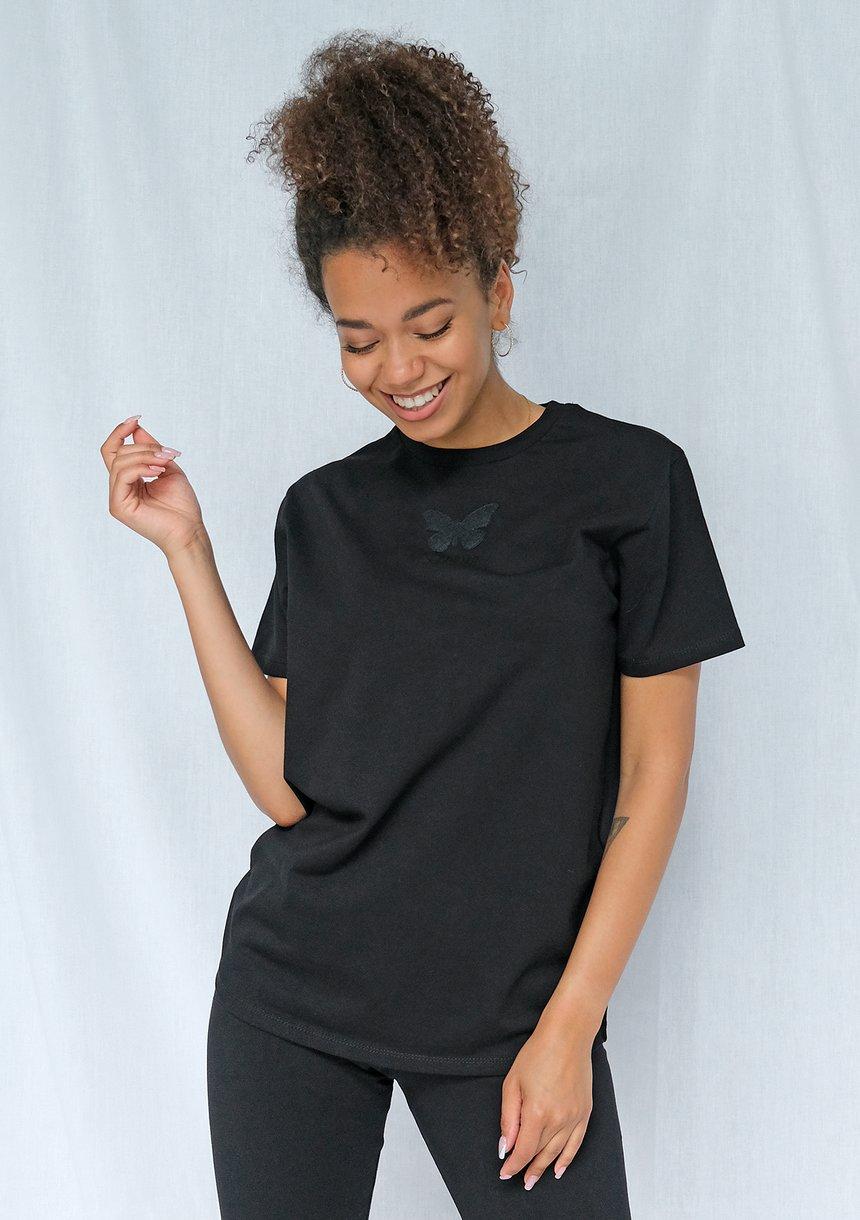Koszulka butterfly logo czarna ILM