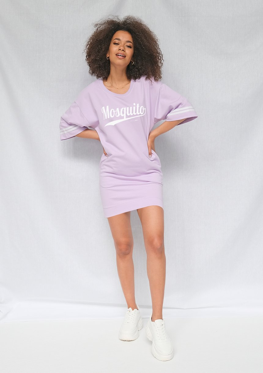 Tunika t-shirt Mosquito logo Lila