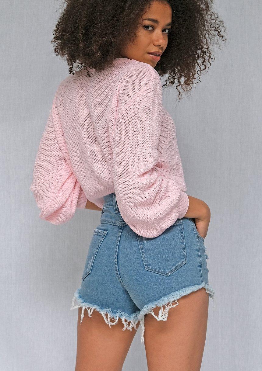 Jeansowe szorty z przetarciami ILM