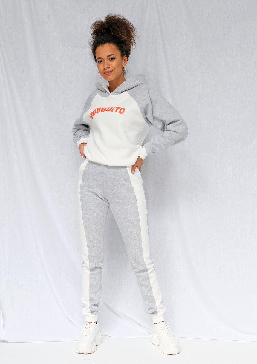 Spodnie dresowe ze wstawką szare ILM