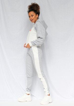 Grey sweatpants with white colour block ILM