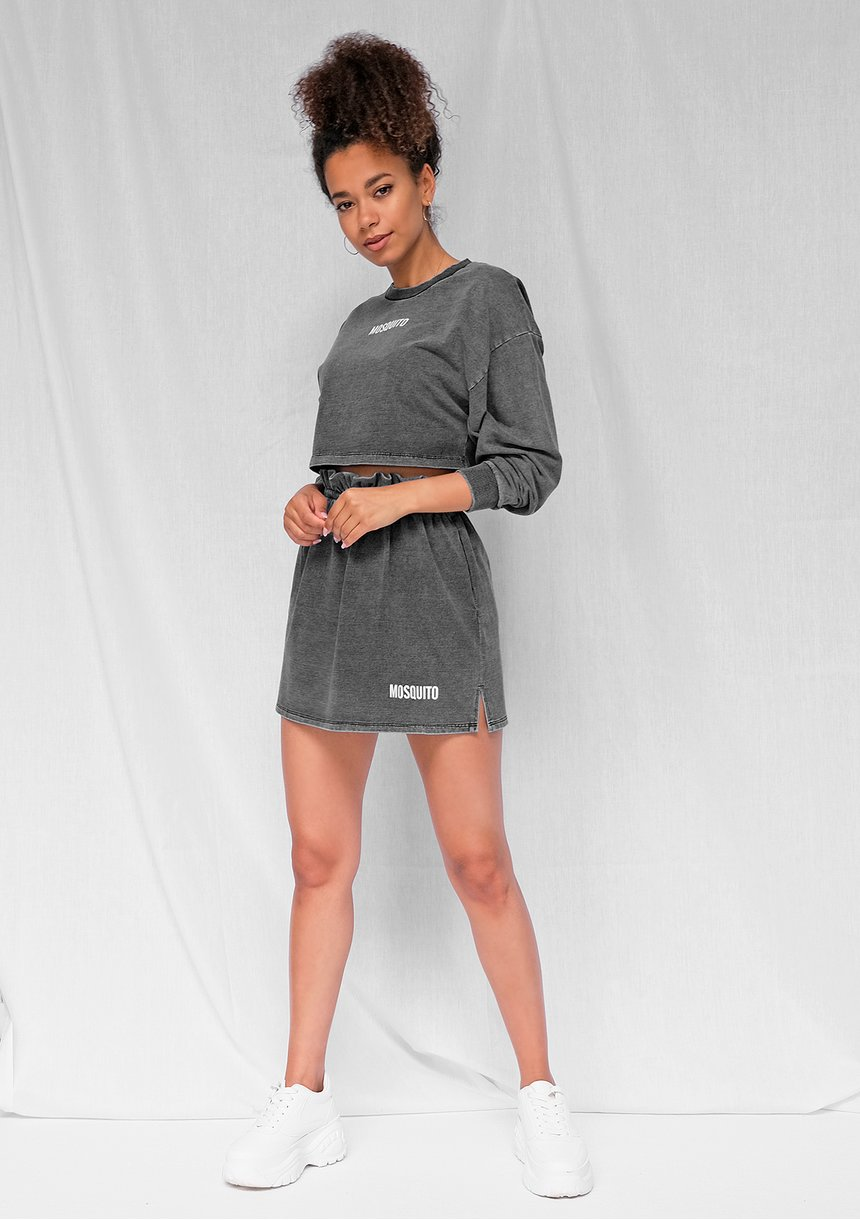 Spódniczka z bawełny denim czarna ILM