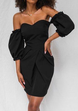 Gorsetowa sukienka tulipan czarna