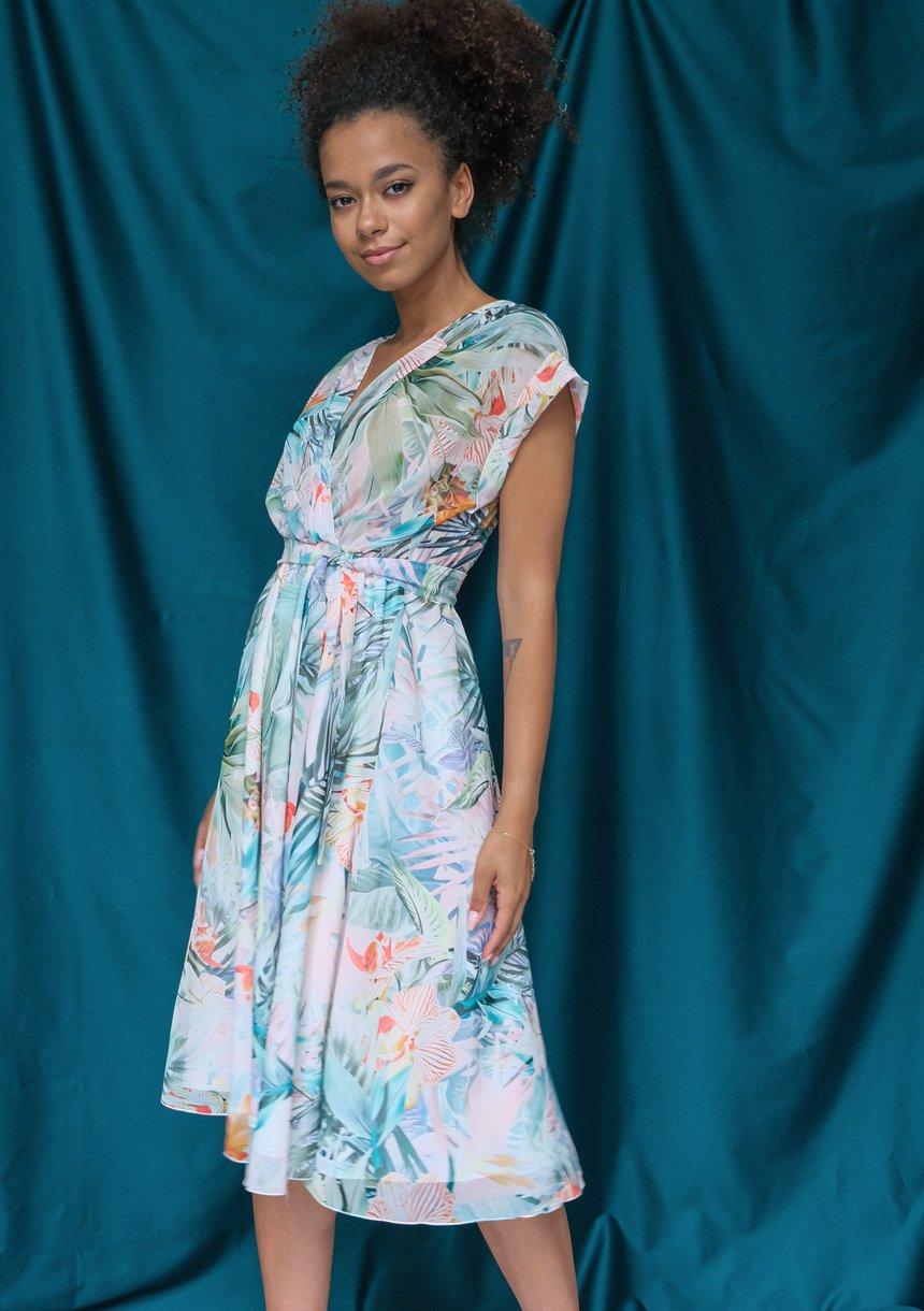 Sukienka z szyfonu pastel exotic