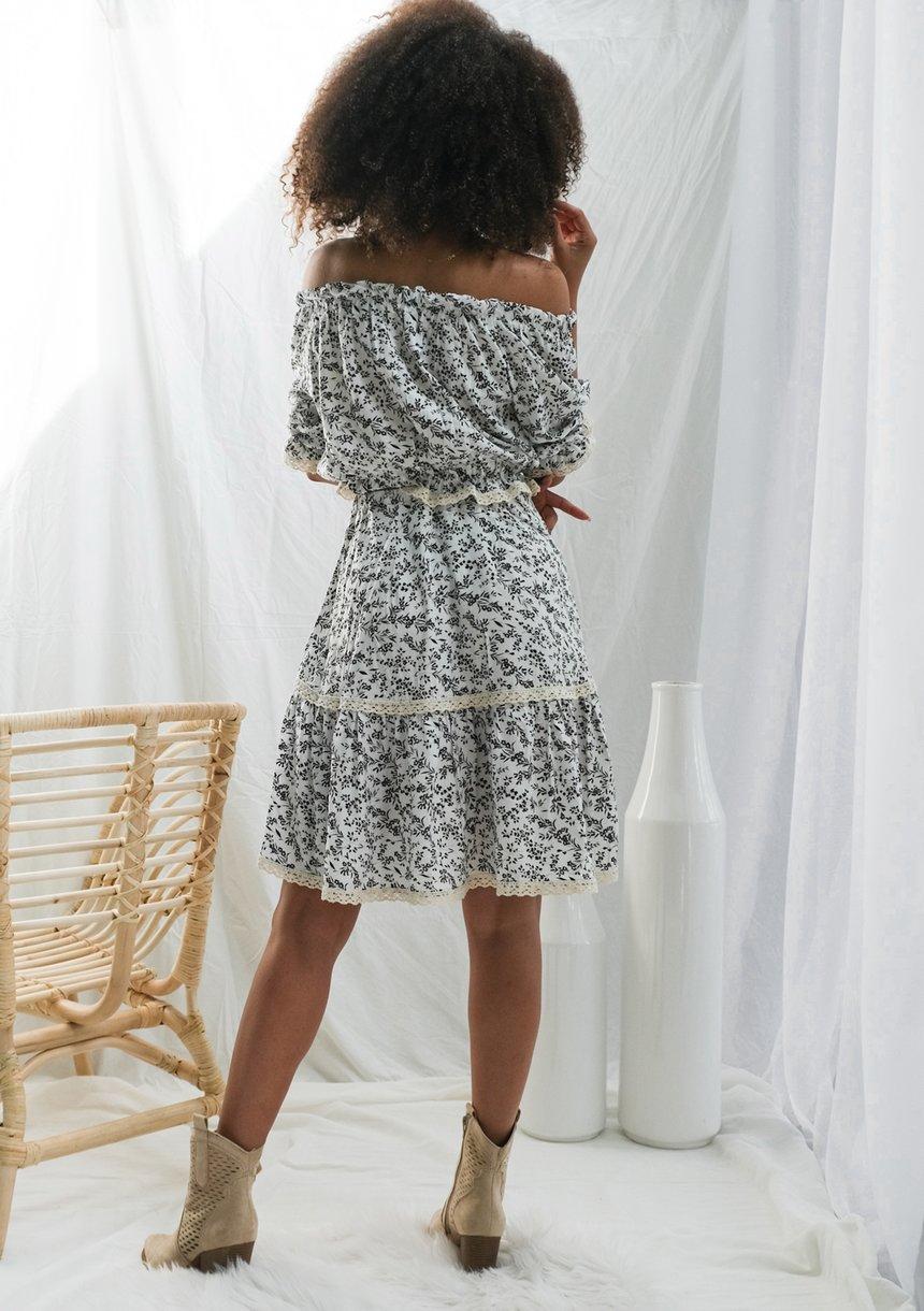 Spódnica z wiskozy kremowa