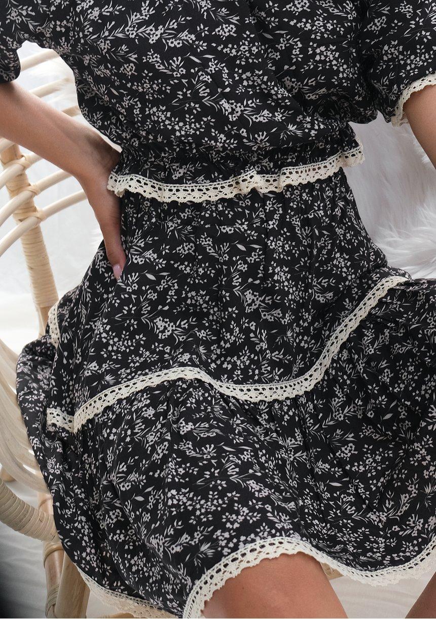 Spódnica z wiskozy czarna