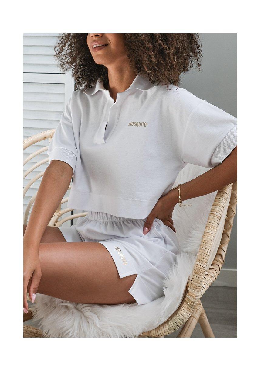 Koszulka polo z dzianiny pik ILM białe