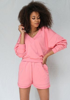 Coral pink oversized shorts ILM