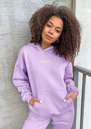 Lilac cotton hoodie ILM