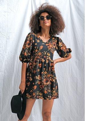 Sukienka w miodowe kwiaty