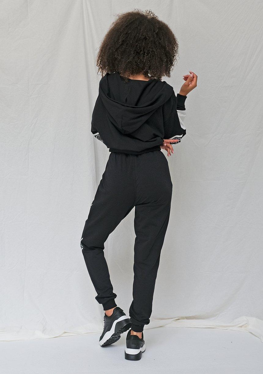 Rozpinana bluza ze wstawką logo czarna ILM
