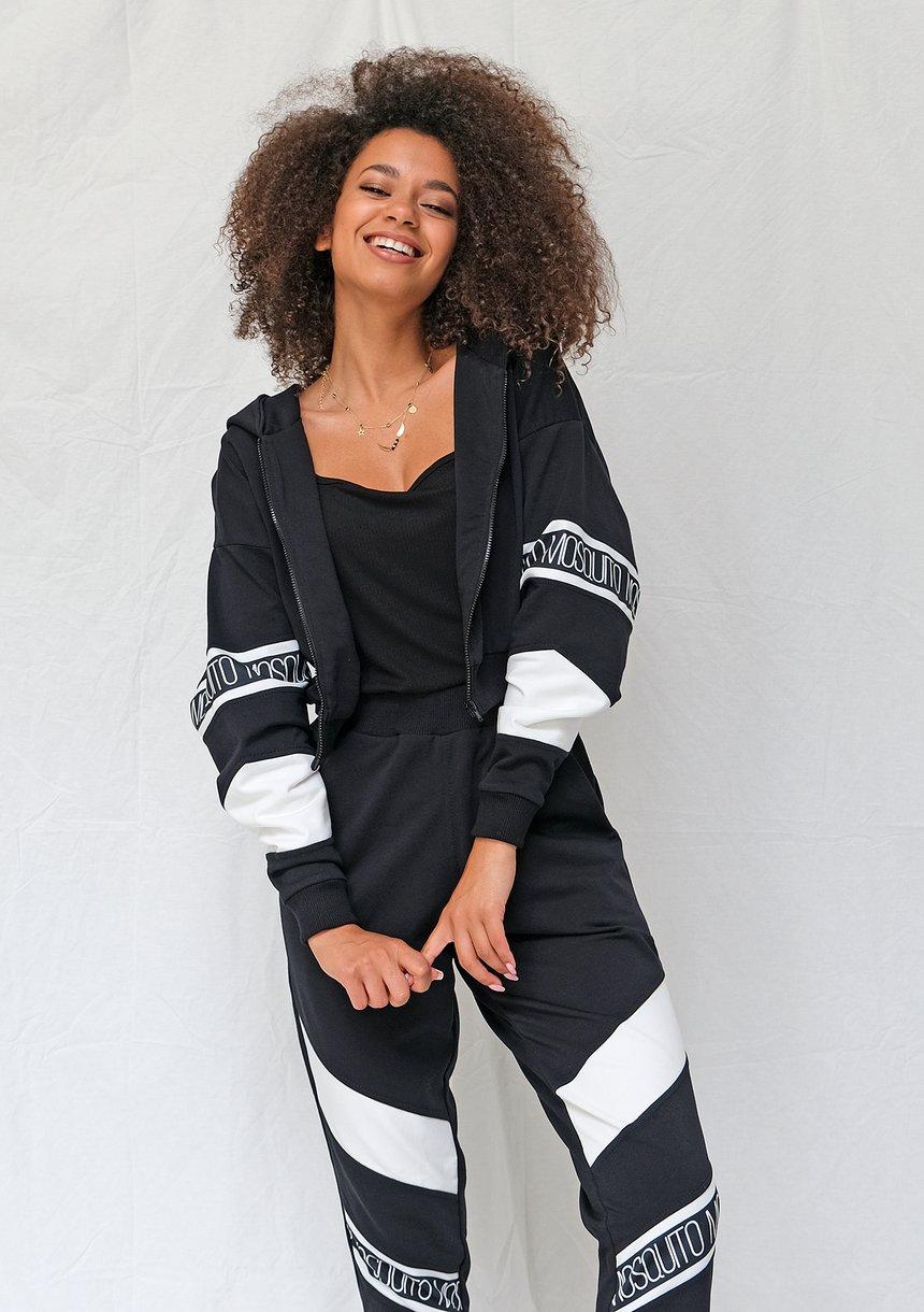 Spodnie ze wstawką logo czarne ILM