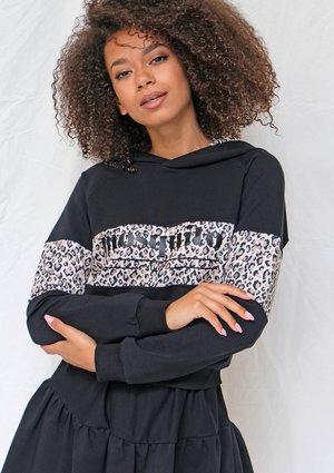 Bluza z kapturem leopard czarna ILM
