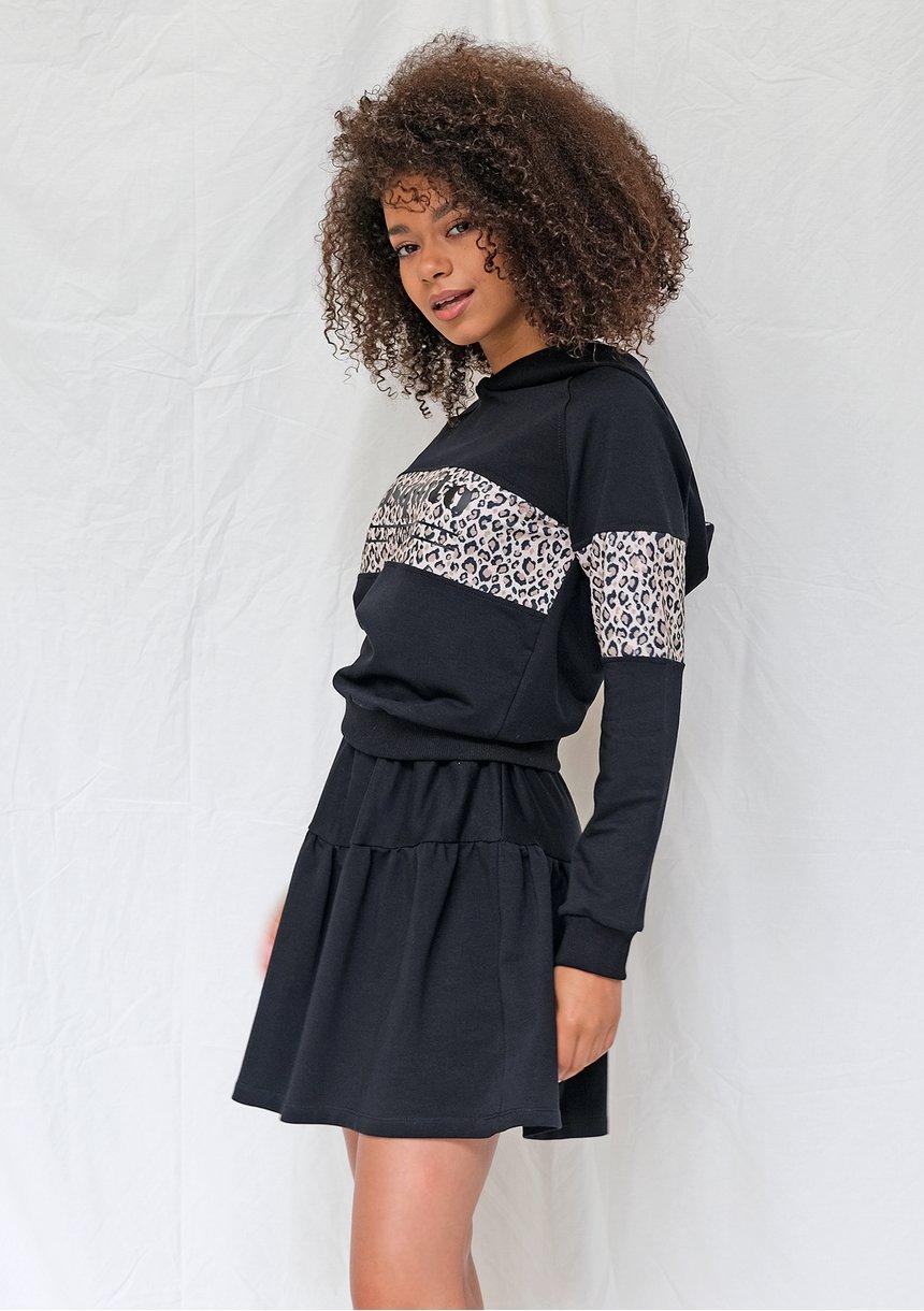Spódnica dresowa czarna ILM